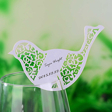 place cards and holders laser cut bird shaped place card. Black Bedroom Furniture Sets. Home Design Ideas