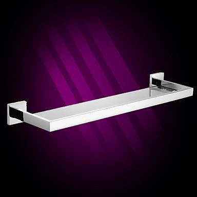 mensole da bagno, specchio moderno finitura lucida in acciaio inox mensola di vetro materiale ...