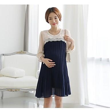 gravidanza inverno donne incinte : 3Colors Qualit? donne incinte Elegent del merletto chiffon vestito da ...