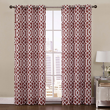 one panel aaron rust printed grommet top 84 inch curtain 1447282 2016