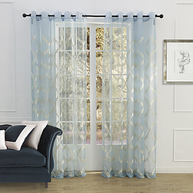Country Two Panels Floral Botanical Blue Bedroom Polyester Sheer Curtains  Shades 1449061 2017    51 29. Country Two Panels Floral Botanical Blue Bedroom Polyester Sheer