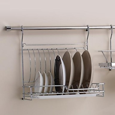 stainless steel dish rack kitchen foldable storage trays. Black Bedroom Furniture Sets. Home Design Ideas