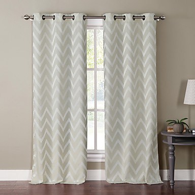 One panel chevron print grommet top 84 inch curtain 1447273 2016