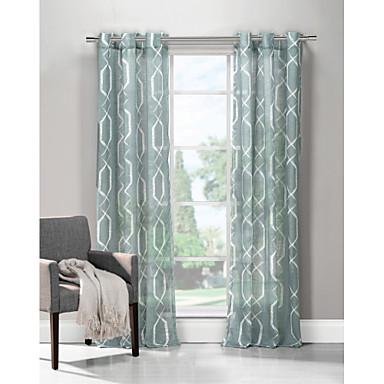 modernas que uno de paneles de cortinas de paneles de polister saln aqua geomtrica cortinas u