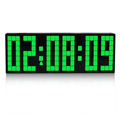 Kosda chihai digital grande r p tition de led alarme - Horloge murale digitale led pile ...