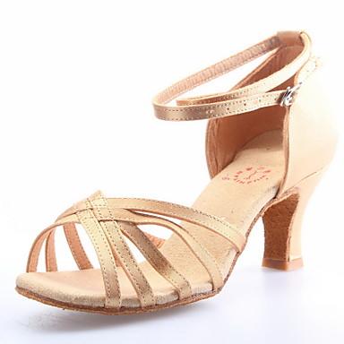 Customized Fashion Womens Satin Upper Dance Shoes Satin Upper Dance Shoes