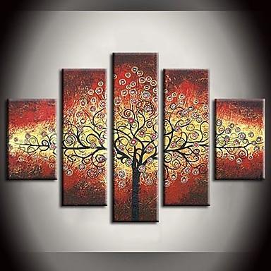 Pintura al leo pintada a mano de las hojas de colores for Pintura color albero