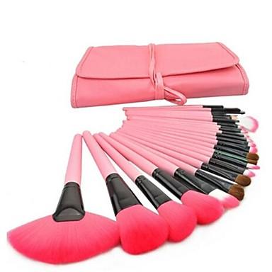 24 pcs professional pink makeup brush set 1664877 2016