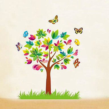 Cartoon farfalle Alberi bambini Camera dei bambini Wall Sticker Wall ...