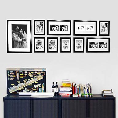 Eigentijdse galerie zwarte collage muur fotolijstjes set van 10 233646 2016 - Eigentijdse muur ...