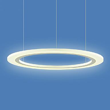 Simple Style Acrylic Round LED Pendant