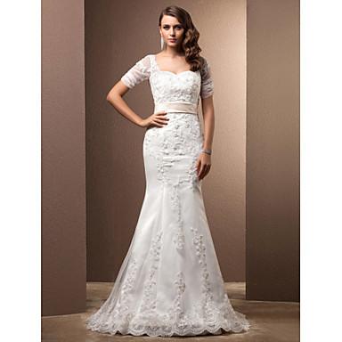 Lanting Bride® A sirena Petite / Taglie forti Abito da sposa ...