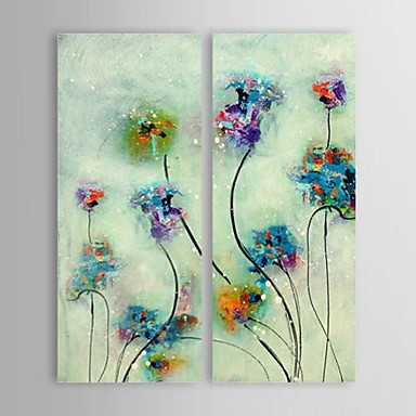 Hand Painted Oil Painting Abstract Simple Flowers with Stretched ...