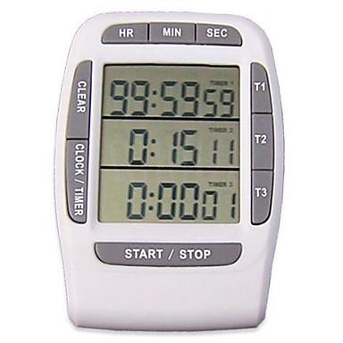 Digital tre canali timer da cucina di plastica - Timer da cucina ...