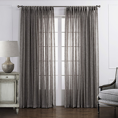 country bedroom solid grey one panel sheer curtains shades 2569439