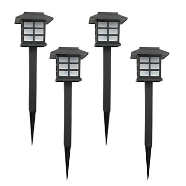 set of 4 color changing solar lawn lamp garden stake light 1642660
