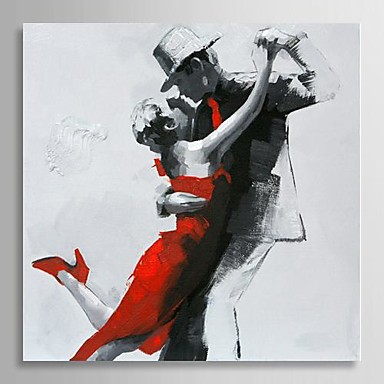 Hand-Painted People One Panel Canvas Oil Painting For Home ...
