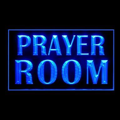 led prayer room sign signs light advertising lighting