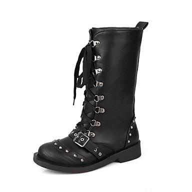 bas talon moto bottes mi mollet bottes des femmes avec des chaussures de boucle plus de. Black Bedroom Furniture Sets. Home Design Ideas