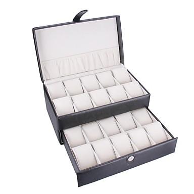 Montre en cuir case vintag noir faux bo te bijoux - Boite a bijoux pour collier ...