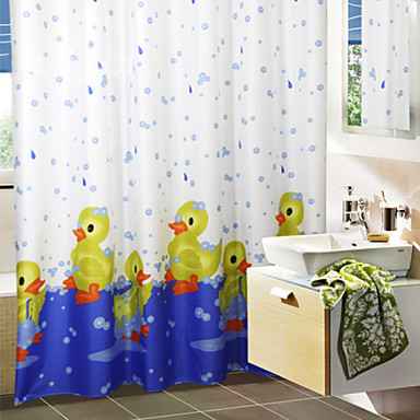 cute cartoon bath duck shower curtain 1612498 2016