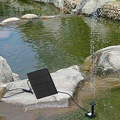 Dogs solar water pump cycle pond fountain rockery fountain for Koi pond pumps for sale