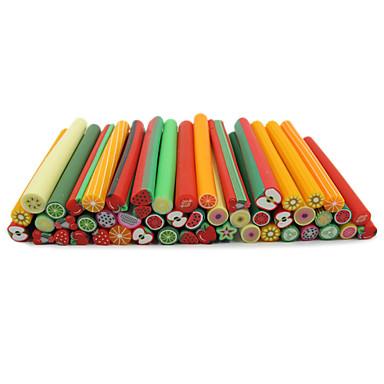 50pcs 3d colorful fruit design fimo canes rods nail art for 3d nail art fimo canes rods decoration