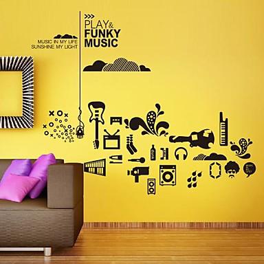adesivi murali Stickers murali, moderne individuale musica per ...