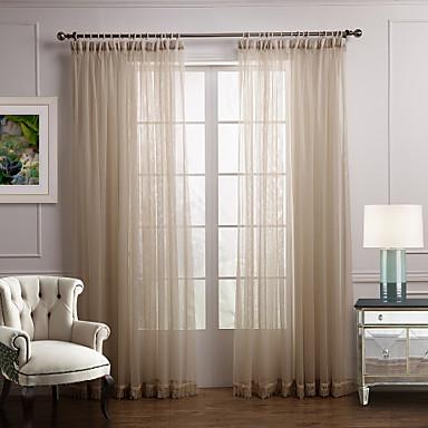 Två paneler Fönster Behandling Modern Sovrum Polyester Material ...