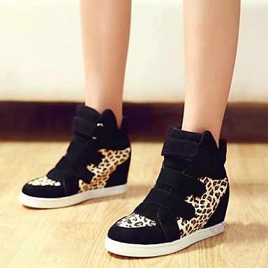 Womens Trendy High Top Wedge Sneakers Trainers Lady Casual Sky Hi