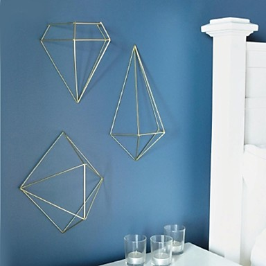 Geometric Metal Wall Art metal wall art wall decor,the 3d geometry wall decor set of 3