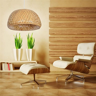 Moderna lámpara de techo de bambú 220v mejor para la sala de estar ...
