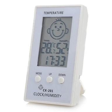 Motif de visage 2 3 lcd intelligent hygrom tre de for Thermometre de chambre