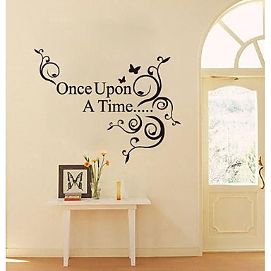 JiuBai™ Once Upon A Time Quote Wall Sticker Wall Decal ...