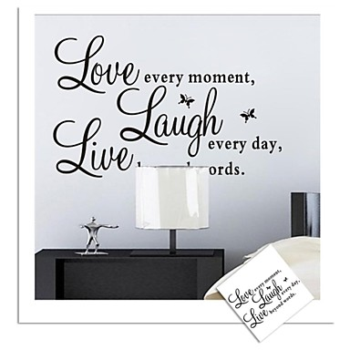 Zooyoo removable colorful cute words love live laugh 3d - Phrase stickers muraux ...