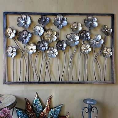 Paroi m tallique art mural d coration les fleurs fleurissaient ouverte d cor - Decoration metallique murale ...