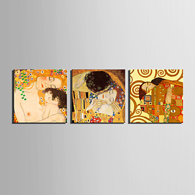 Horizontal Wall Decor canvas set famous people classic modern traditional,three panels