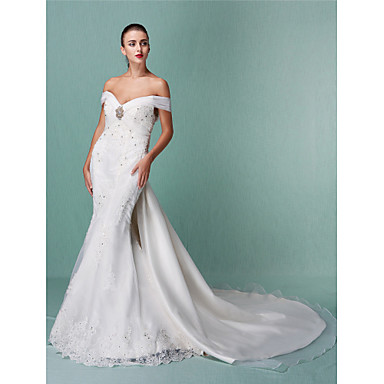 Lanting bride trumpet mermaid petite plus sizes for Wedding dresses petite sizes