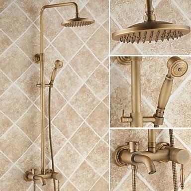 laiton antique robinet de douche baignoire avec douche t te 8 pouces douche main de 2140947. Black Bedroom Furniture Sets. Home Design Ideas