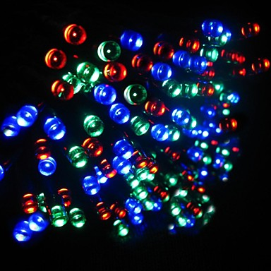 Half String Of Christmas Lights Blinking : 21M 200-LED Solar Powered Christmas Lights String Lamp Indoor Outdoor Flashing Light Strip - RGB ...
