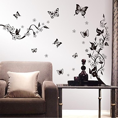 Adesivi murali stickers murali fiori autoadesivi della for Stickers murali 3d