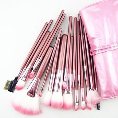 22pcs nylon hair professional pink handle makeup brushes