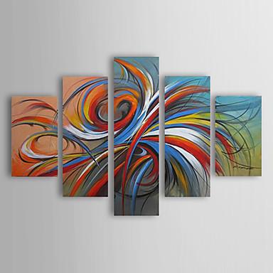 Pintada a mano abstractomodern tradicional cinco paneles for Case pc colorati