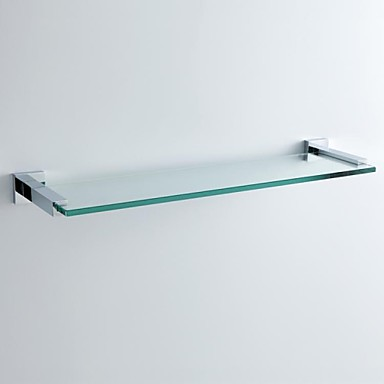 massivem Messing verchromt Bad-Accessoires Wandhalterung Glasregal 2221146 20...