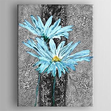 fr peinture a l huile moderne fleur abstraite main toile peinte avec etire encadree p