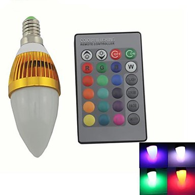 zweihnde e14 3 w 1 integrate led 180 200 lm rgb c35 dimmable remote controlled decorative. Black Bedroom Furniture Sets. Home Design Ideas