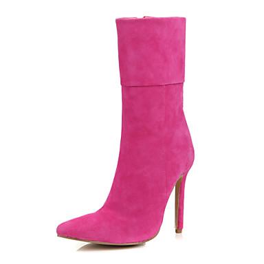 Замша Вид каблука Платформа Сапоги до колен с цветы Плетеный ремень обувь