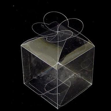 12pcs caja transparente de pl stico pvc parte superior de for Cajas de plastico transparente