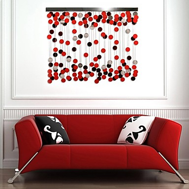 Red Wall Decor e-home® metal wall art wall decor, the red circle decoration wall