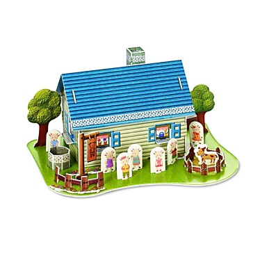 3D DIY Creative Lamb's Home Build Collect Educational Kit Puzzle Toy ...